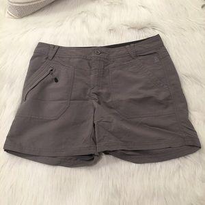 The North Face Gray Hiking Zip Pocket Shorts